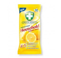 Vlhčené obrúsky antibakteriálne Green Shield 50ks