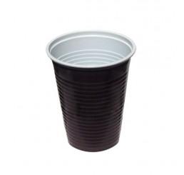 Pohár na horúce nápoje hnedo-biely 180ml ( 100ks )