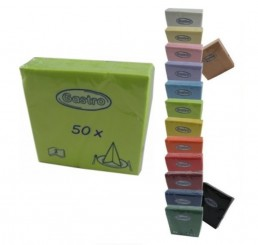 Servítky 2 vrstv. 33x33 farebné 50 ks