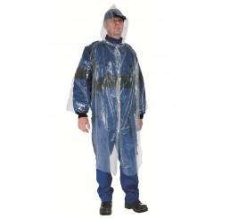 Jednorázový prišiplášť / plášť pre návštevy s kapucou PE 10ks
