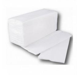 Skladané utierky ZZ LUX  biele 1vrst. recykel